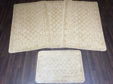 ROMANY WASHABLES NEW GYPSY SETS OF 4PC LIGHT BEIGE MATS NON SLIP TOURER SIZES